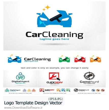 دانلود مجموعه تصاویر وکتور آرم و لوگوی متنوع - Logo Template Design Vector