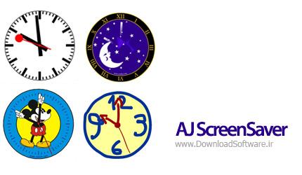دانلود AJ ScreenSaver اسکرین سیور ساعت برای ویندوز