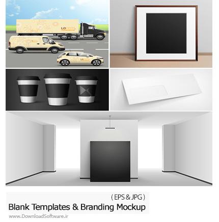دانلود تصاویر وکتور قالب آماده و موکاپ ست اداری، پکیج و ... از شاتر استوک - Amazing ShutterStock Blank Templates And Branding Mockup