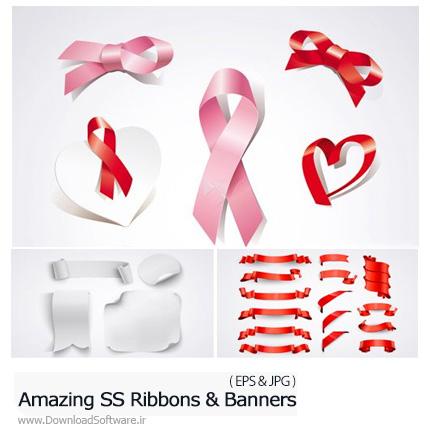 دانلود تصاویر وکتور روبان و بنر از شاتر استوک - Amazing ShutterStock Ribbons And Banners