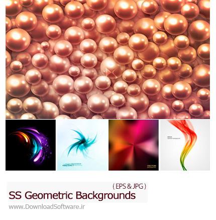 دانلود تصاویر وکتور پس زمینه اشکال هندسی از شاتر استوک - Amazing Shutterstock Geometric Background