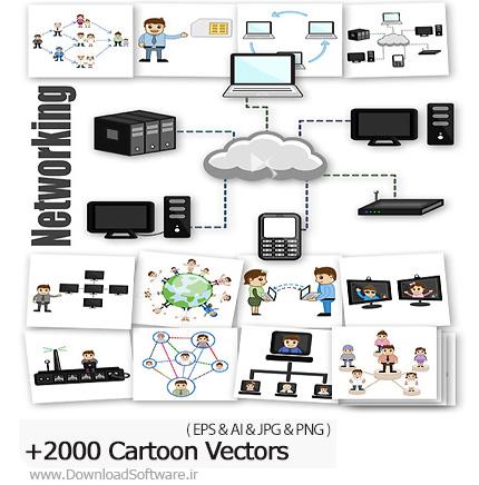 دانلود مجموعه تصاویر وکتور شخصیت های کارتونی با موضوعات مختلف - CartoonZee 2000 Cartoon Vectors