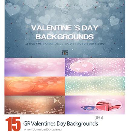دانلود 15 تصویر با کیفیت پس زمینه های فانتزی روز ولنتاین از گرافیک ریور - GraphicRiver 15 Valentines Day Backgrounds