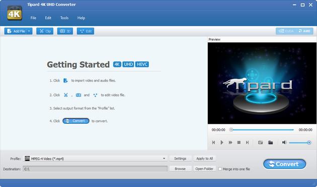 دانلود Tipard 4K UHD Converter نرم افزار تبدیل فرمت های 4K