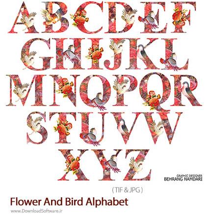 دانلود فونت حروف الفبای لاتین گل و مرغ