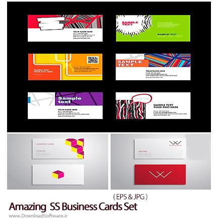 دانلود تصاویر وکتور کارت ویزیت با طرح های متنوع از شاتر استوک - Amazing ShutterStock Business Cards Set