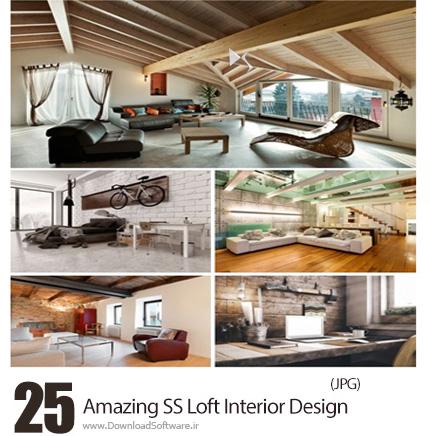 دانلود تصاویر با کیفیت طراحی داخلی انبار یا اتاق زیر شیروانی از شاتر استوک - Amazing ShutterStock Loft Interior Design