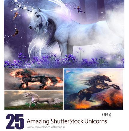 دانلود تصاویر با کیفیت اسب تک شاخ از شاتر استوک - Amazing ShutterStock Unicorns