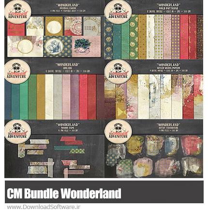 دانلود مجموعه تصاویر کلیپ آرت عناصر طراحی، تکسچر، عناصر تزئینی، کارت پستال - CM Bundle Wonderland