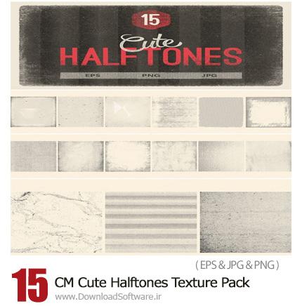 دانلود 15 تکسچر ترام با طرح های متنوع - CM Cute Halftones Texture Pack