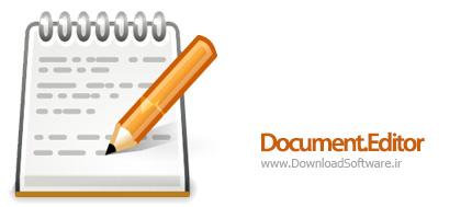 دانلود Document.Editor نرم افزار ویرایشگر متن