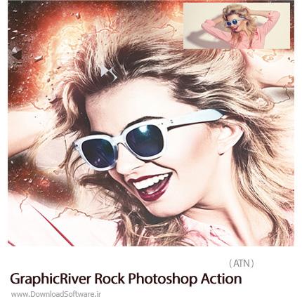 دانلود اکشن فتوشاپ ایجاد افکت خرده سنگ بر روی تصاویر از گرافیک ریور - GraphicRiver Rock Photoshop Action