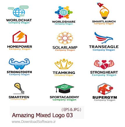 دانلود تصاویر وکتور آرم و لوگوهای مختلف شگفت انگیز - Amazing Mixed Logo 03