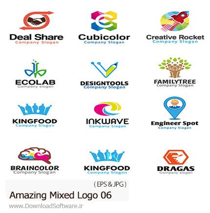 دانلود تصاویر وکتور آرم و لوگوهای مختلف شگفت انگیز - Amazing Mixed Logo 06