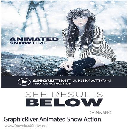 دانلود اکشن فتوشاپ ایجاد انیمیشن باریدن برف بر روی تصاویر از گرافیک ریور - GraphicRiver Animated Snow Action