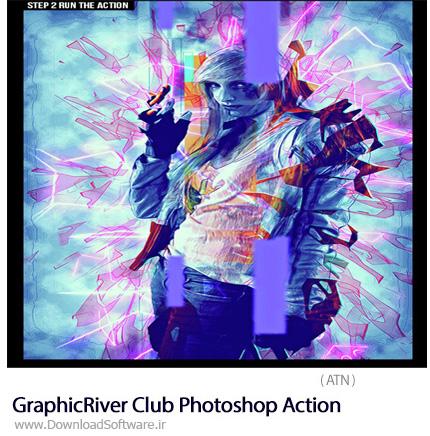 دانلود اکشن فتوشاپ ایجاد افکت انتزاعی بر روی تصاویر از گرافیک ریور - GraphicRiver Club Photoshop Action