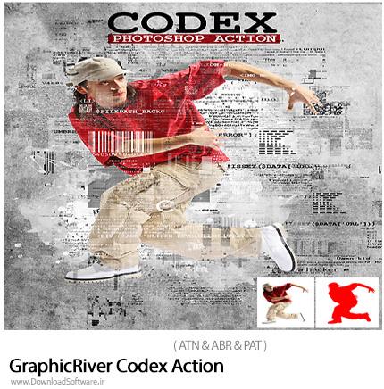 دانلود اکشن فتوشاپ ایجاد افکت کد گذاری بر روی تصاویر از گرافیک ریور - GraphicRiver Codex Action