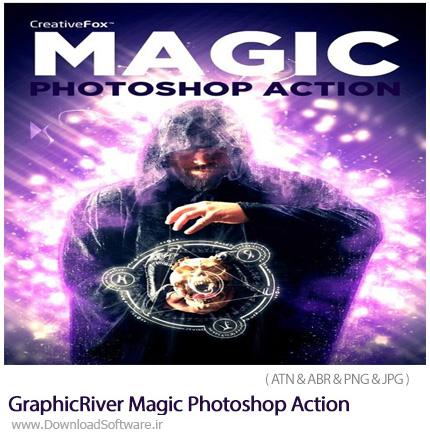 دانلود اکشن فتوشاپ ایجاد افکت جادویی بر روی تصاویر از گرافیک ریور - GraphicRiver Magic Photoshop Action