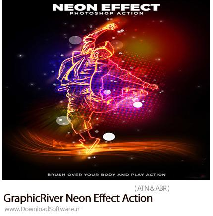 دانلود اکشن فتوشاپ ایجاد افکت نئون بر روی تصاویر از گرافیک ریور - GraphicRiver Neon Effect Action