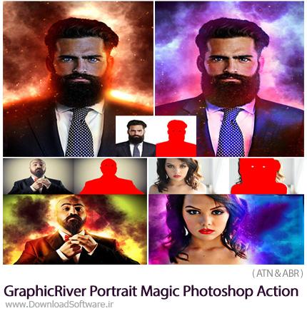 دانلود اکشن فتوشاپ با افکت پرتره جادویی از گرافیک ریور - GraphicRiver Portrait Magic Photoshop Action