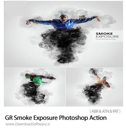 دانلود اکشن فتوشاپ ایجاد افکت دود بر روی تصاویر از گرافیک ریور - GraphicRiver Smoke Exposure Photoshop Action