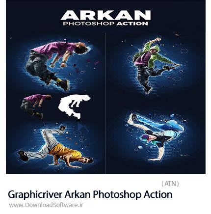 دانلود اکشن فتوشاپ ایجاد افکت انتزاعی بر روی تصاویر از گرافیک ریور - Graphicriver Arkan Photoshop Action