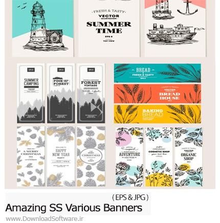 دانلود تصاویر وکتور بنر با طرح های متنوع از شاتر استوک - Amazing ShutterStock Various Banners
