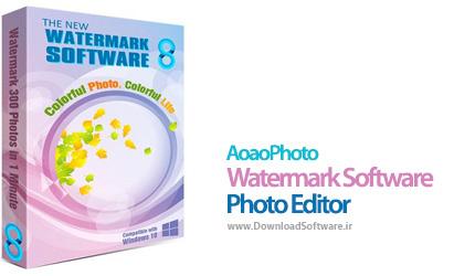 دانلود AoaoPhoto Watermark Software Photo Editor برنامه قرار دادن واترمارک روی عکس