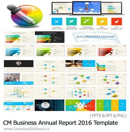 دانلود مجموعه قالب آماده تجاری پاورپوینت - CM Business Annual Report 2016 Template