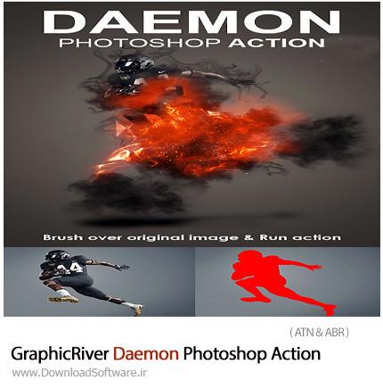 دانلود اکشن فتوشاپ ایجاد افکت روح شیطانی بر روی تصاویر از گرافیک ریور - GraphicRiver Daemon Photoshop Action
