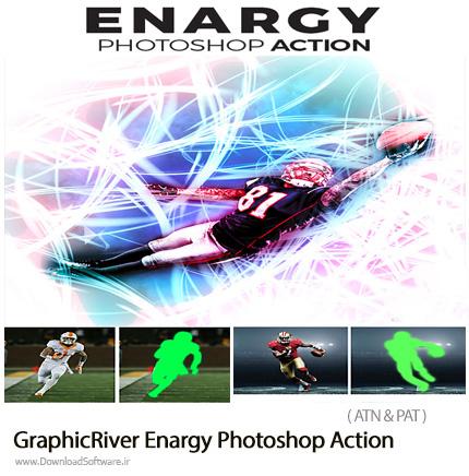 دانلود اکشن فتوشاپ ایجاد افکت انرژی بر روی تصاویر از گرافیک ریور - GraphicRiver Enargy Photoshop Action