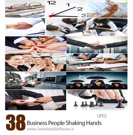 دانلود تصاویر با کیفیت کسب و کار و دست دادن - Stock Image Business People Shaking Hands