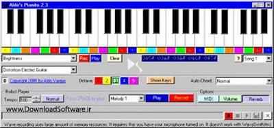 دانلود Aldos Pianito 2.1 نرم افزار ارگ برای کامپیوتر