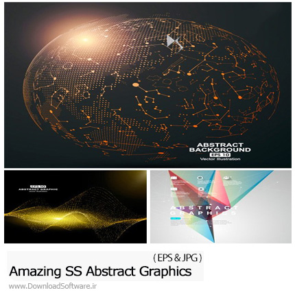 دانلود تصاویر وکتور پس زمینه های انتزاعی گرافیکی از شاتر استوک - Amazing ShutterStock Abstract Graphics