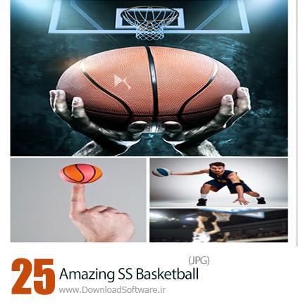 دانلود تصاویر با کیفیت بسکتبال، توپ و تور، بسکتبالیست از شاتر استوک - Amazing ShutterStock Basketball