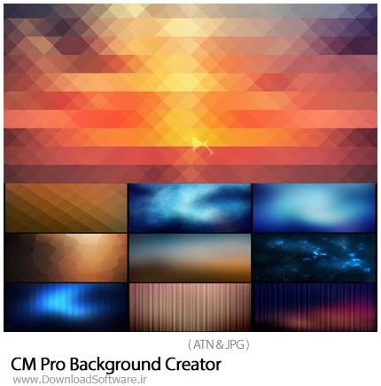 دانلود اکشن فتوشاپ ساخت بک گراند حرفه ای - CM Pro Background Creator