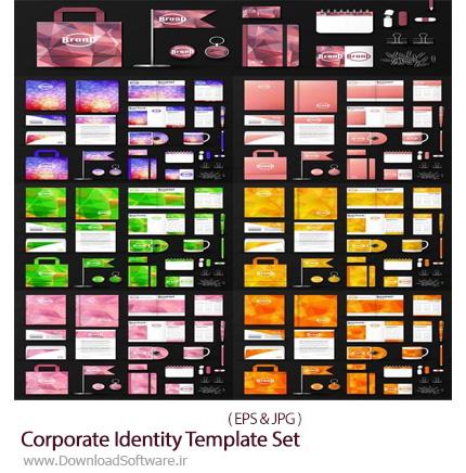 دانلود مجموعه تصاویر وکتور ست اداری، کارت ویزیت، پاکت نامه، سربرگ و ... - Corporate Identity Template Set Branding Design