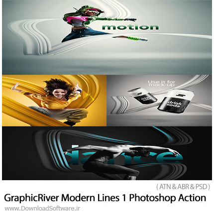دانلود اکشن فتوشاپ ایجاد افکت خطوط مدرن بر روی تصاویر از گرافیک ریور - GraphicRiver Modern Lines 1 Photoshop Action