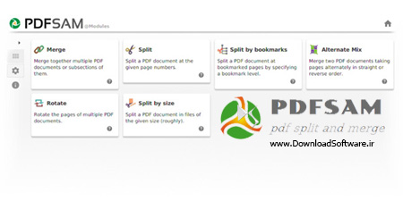 دانلود PDFsam -PDF Split and Merge برنامه تقسیم و ادغام و چرخش PDF