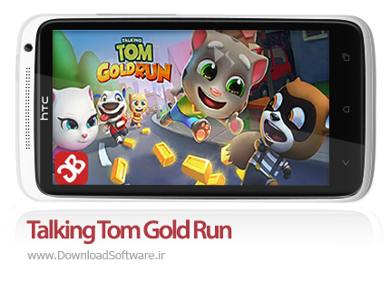 دانلود Talking Tom Gold Run بازی گربه سخنگو برای اندروید