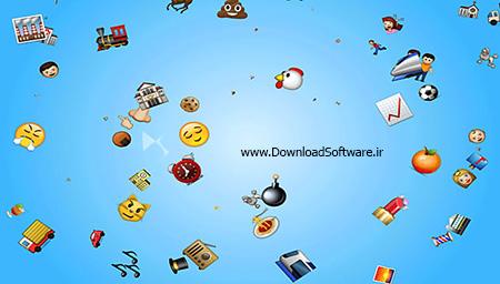 دانلود Emoji Rain Screensaver اسکرین سیور برای ویندوز