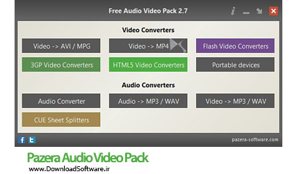 دانلود Pazera Audio Video Pack Portable نرم افزار تبدیل فایل های صوتی و تصویری