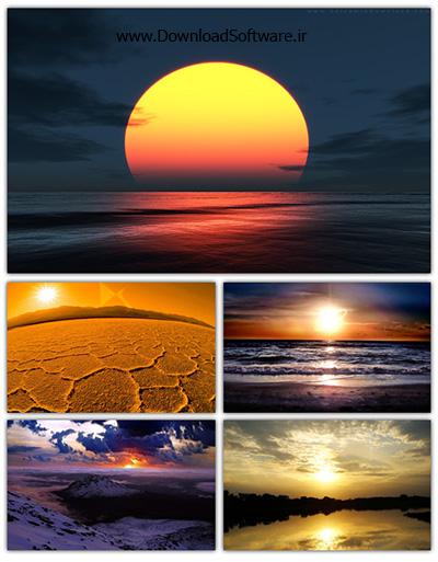 دانلود Sunset Wallpaper مجموعه تصاویر والپیپر با موضوع غروب خورشید