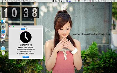 دانلود Digital Clock نرم افزار ساعت دیجیتال