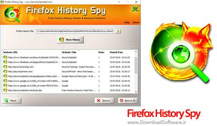 دانلود Firefox History Spy ویرایش و حذف تاریخچه مرورگر فایرفاکس