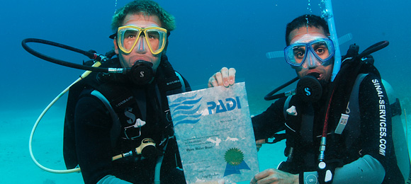 PADI Water Diver sceen