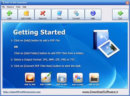 دانلود PDF To JPG Converter نرم افزار تبدیل عکس به پی دی اف