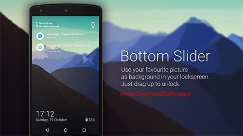 دانلود Bottom Slider – Lock Screen – لاک اسکرین متفاوت برای اندروید