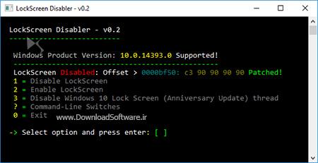 دانلود LockScreen Disabler  نرم افزار غیرفعالسازی لوک اسکرین ویندوز 10