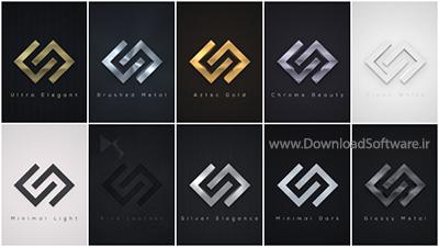 دانلود لوگو برای افترافکت Elegant Logo Reveals Pack 2